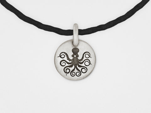 Image of Octopus Charm Bracelet in Sterling Silver
