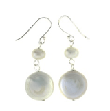 Image of Coin Pearl Dangles