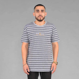 S&D LA Vintage Striped Tee (Athletic Heather Grey)