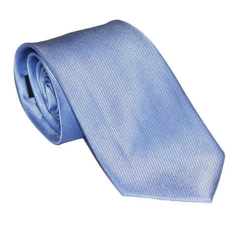 Image of Solid Color Necktie - Light Blue, Woven Silk
