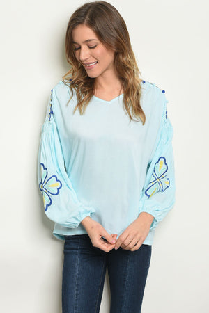 Womens Blue Tunic Top