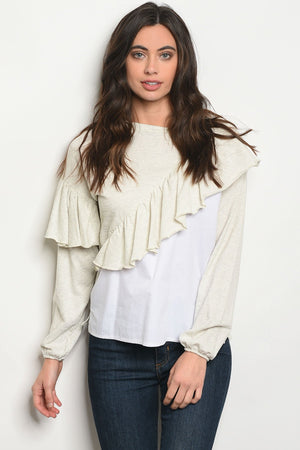 Womens Oatmeal Top