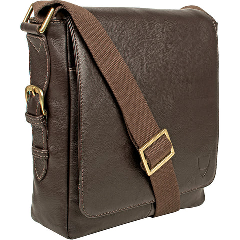 Image of William Vertical Leather Messenger