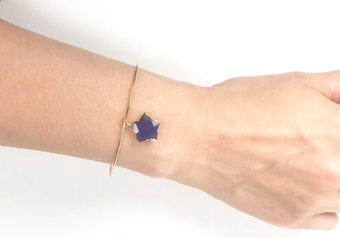 Image of Lapis Lazuli Star Adjustable Bangle Bracelet