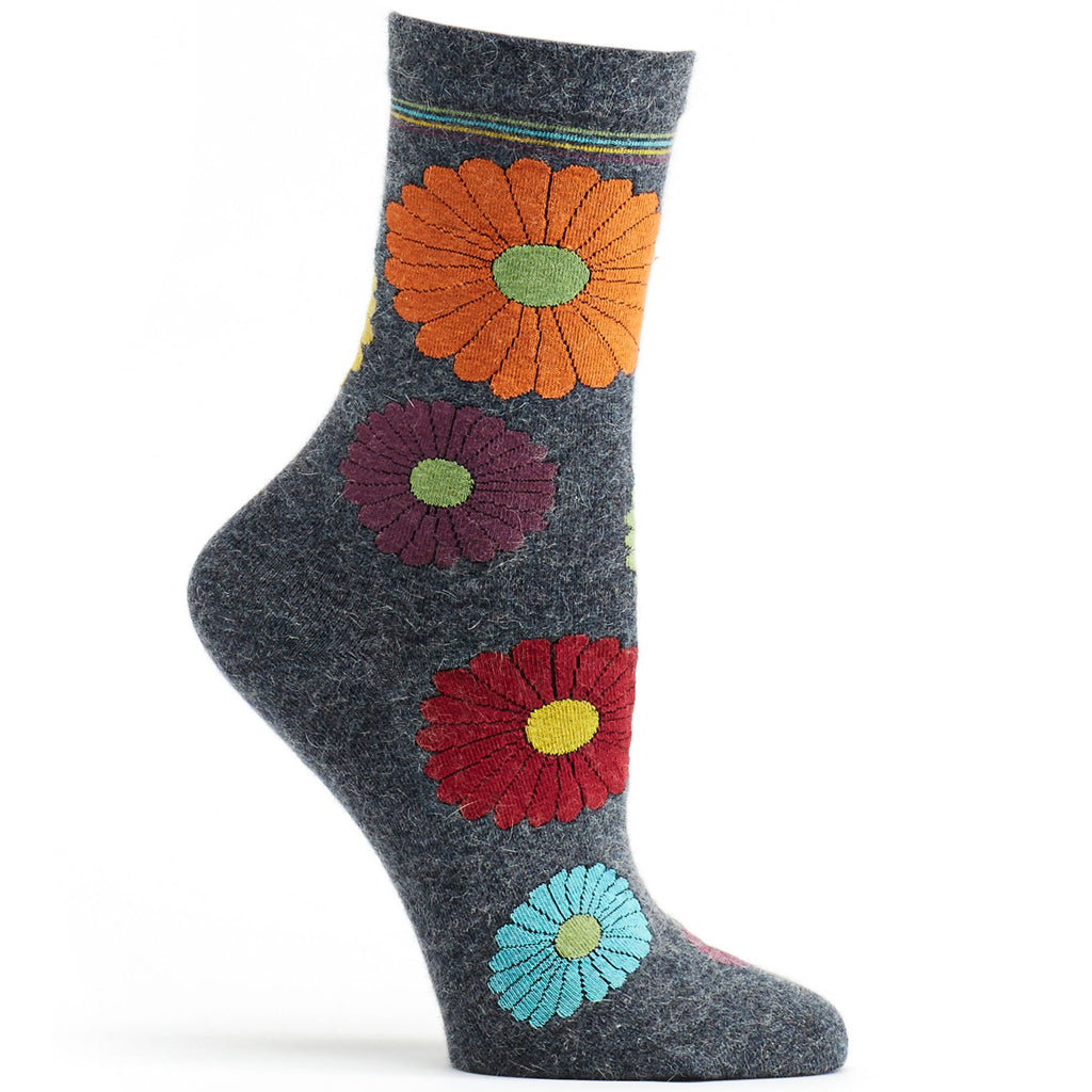 Mini Flower Power Angora Sock