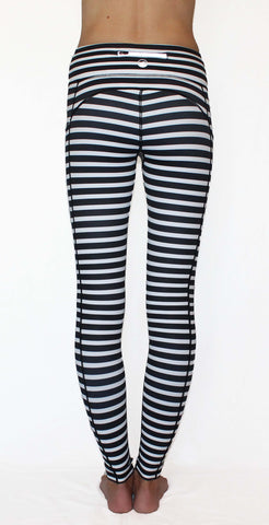 Image of Black and White Stripe - Pocket Pant