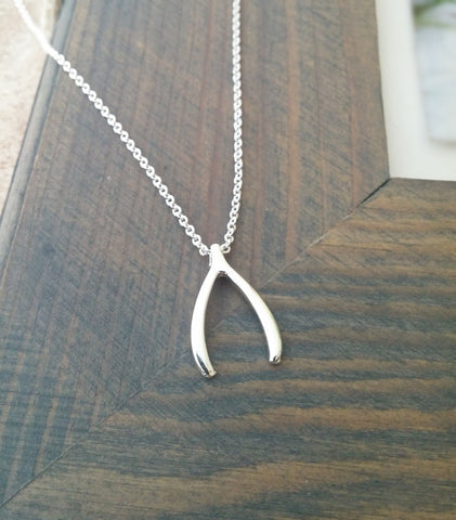 Image of Silver Wishbone Necklace