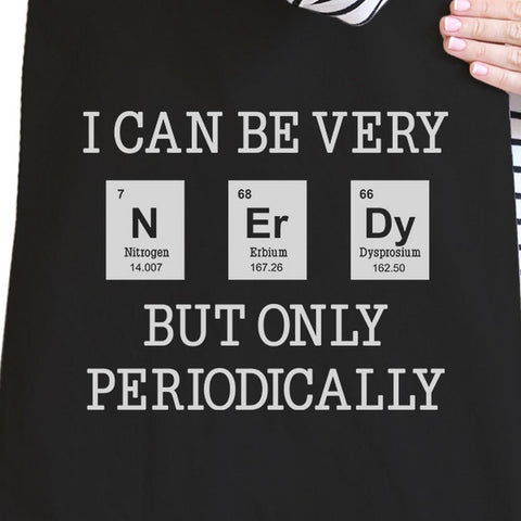 Image of Nerdy Periodically Black Canvas Bags