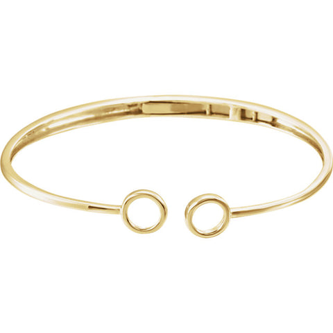 Image of Circle Hinged Cuff Bracelet
