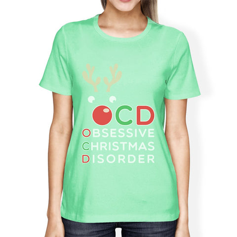 Image of Rudolph OCD Womens Obsessive Christmas Disorder T-Shirt For Her