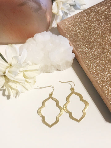 CJ Small Brushed Gold Earrings