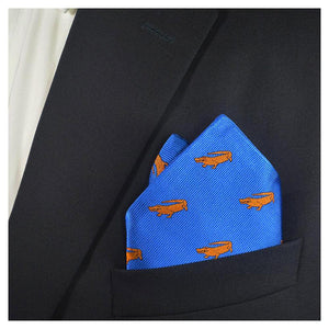 Alligator Pocket Square - Blue