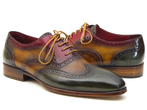 Image of Paul Parkman Men's Three Tone Wingtip Oxfords (ID#PP22F75)
