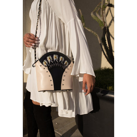Image of Feather White Shoulder Bag
