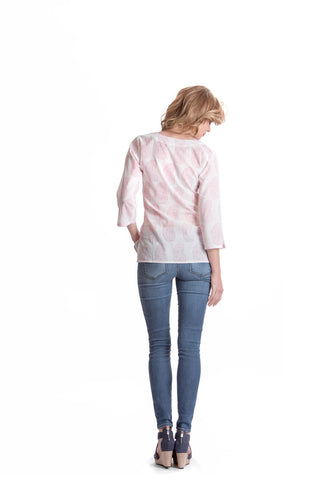 Erica Paisley Top - Rose