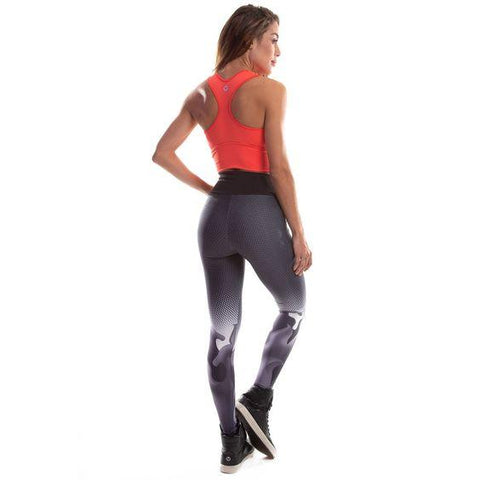 Sublimated Fuso Black Leggings