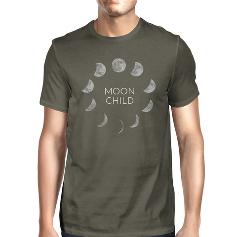 Image of Moon Child Mens Dark Grey Shirt