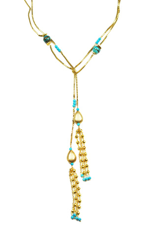 Image of Turquoise Lariat Necklace
