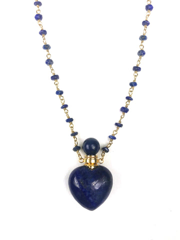 Image of Lapis Lazuli Heart Necklace