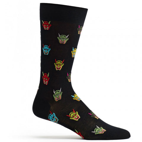 Image of Mens Hannya Mask Sock