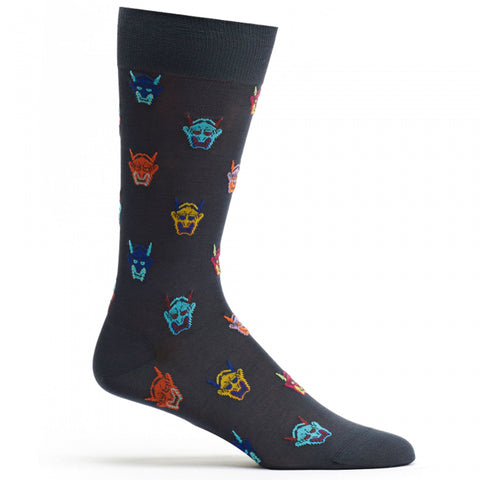 Mens Hannya Mask Sock