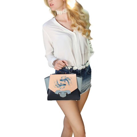 Image of Fish Small Blue Satchel