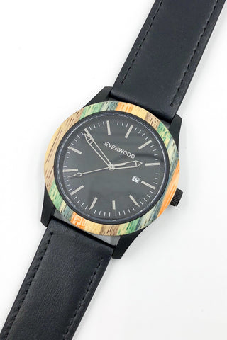 Image of Inverness | Multi Bamboo | Black Leather