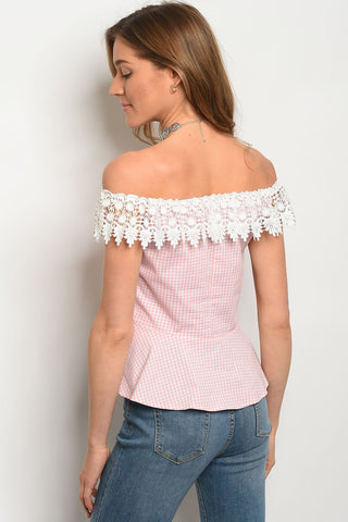 Image of Womens Checkers Top