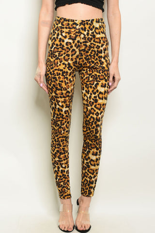 Image of Leopard Print Pants
