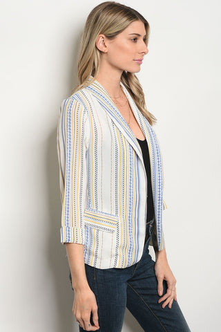 Ivory Indigo Yellow Jacket