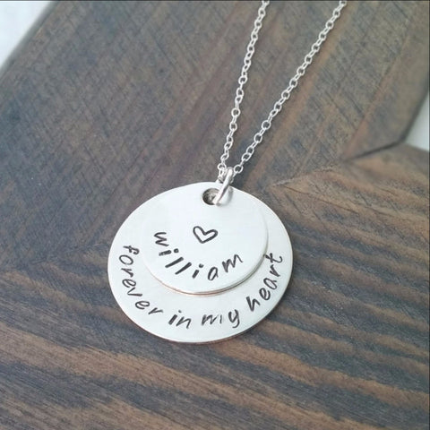 Personalized Forever in my Heart Necklace