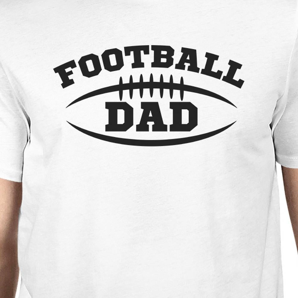 Football Dad Men's White Humorous Design T Shirt For Fathers Day