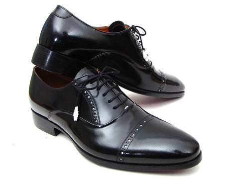 Image of Paul Parkman Men's Captoe Oxfords Black Dress Shoes (ID#78RG61)