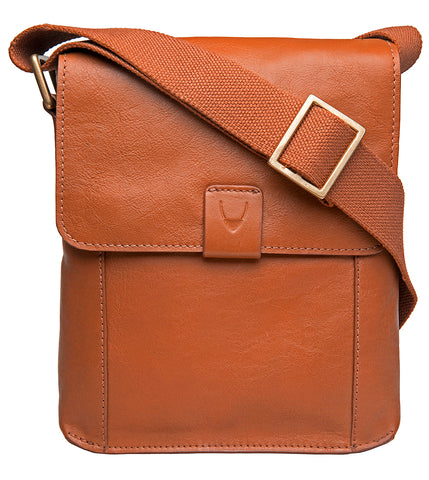 Image of Aiden Small Leather Messenger Cross Body Bag