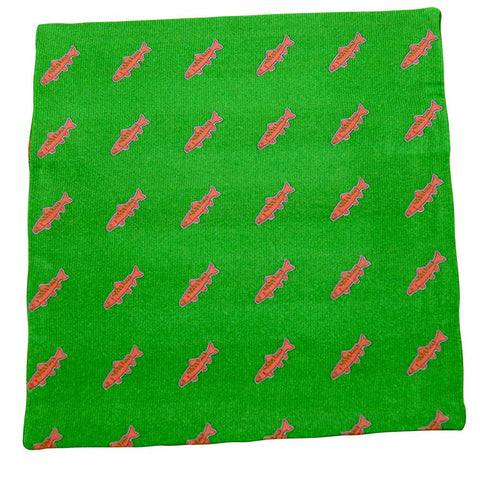 Image of Trout Pocket Square - Green, Woven
