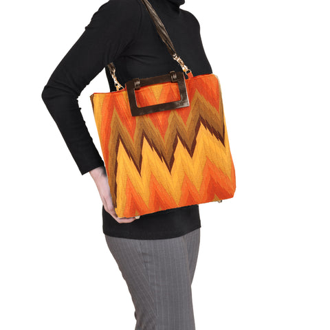 Flame Rust Small Tote