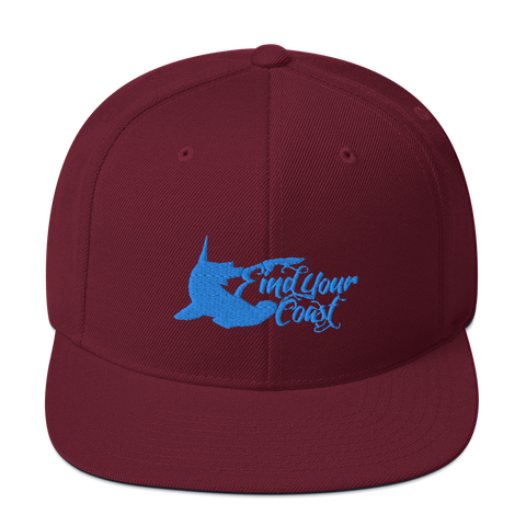 Find Your Coast Premium Hammerhead Snapback Hat