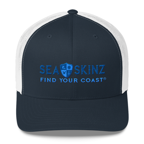 Image of Find Your Coast Sea Skinz Vintage Trucker Hat