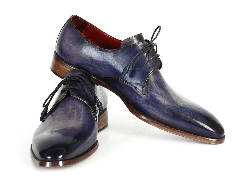 Paul Parkman Men's Blue & Navy  Derby Shoes (ID#PP2279)