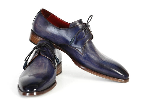 Image of Paul Parkman Men's Blue & Navy  Derby Shoes (ID#PP2279)