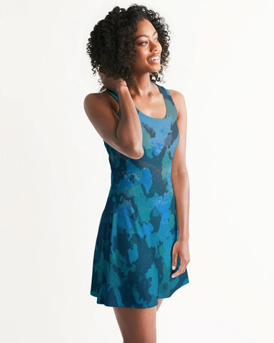 Image of Women's Ocean Camo Casual Racerback Dress