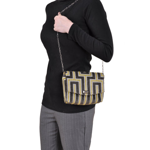 Image of Maze Grey square clutch