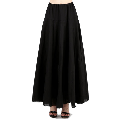 Evanese Women A Line Full Length Maxi Long Adjustable Pick Up Bubble Godet Skirt