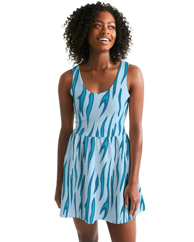 Women's Energizer Scoop Neck Casual and Fun Skater Dress