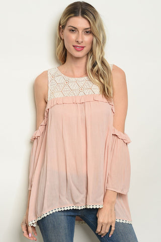 Image of Womens Peach Top
