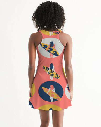 Image of Women's Surfer Girl Casual and Fun Racerback Dress