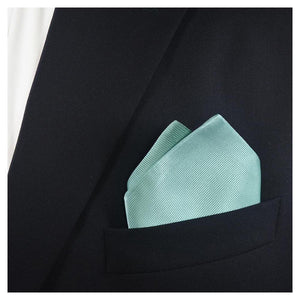 Solid Color Pocket Square - Light Green, Woven Silk