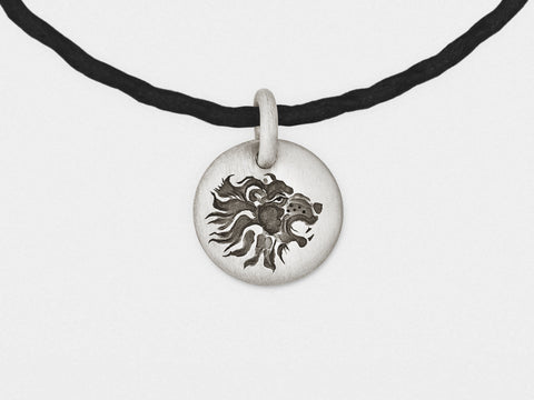 Image of Lion Charm Bracelet in Sterling Silver