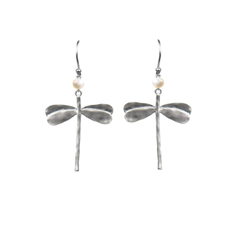 Dragonfly Pearl Earrings