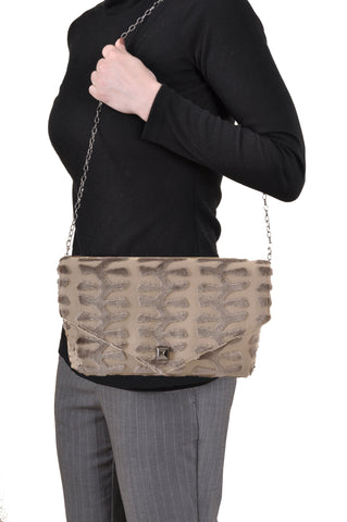 Image of Totem Taupe envelope clutch